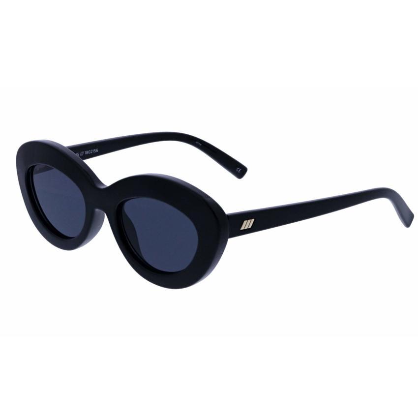 Le Specs Fluxus 1802156 Female Black Oval Sunglasses