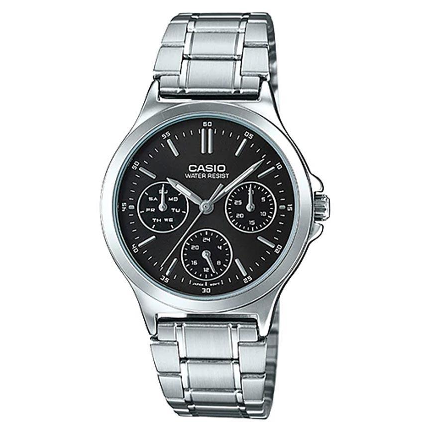 Casio Ladies LTP-V300D-1AUDF Enticer Black Dial Medium Watch