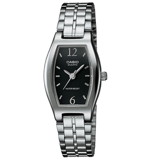 Casio LTP1254D-1A Women's Classic Black Dail Analog Bracelet Small Size Watch