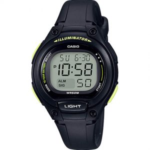 Casio LW203-1BV Women's Easy To Read Digital All Black Medium Watch