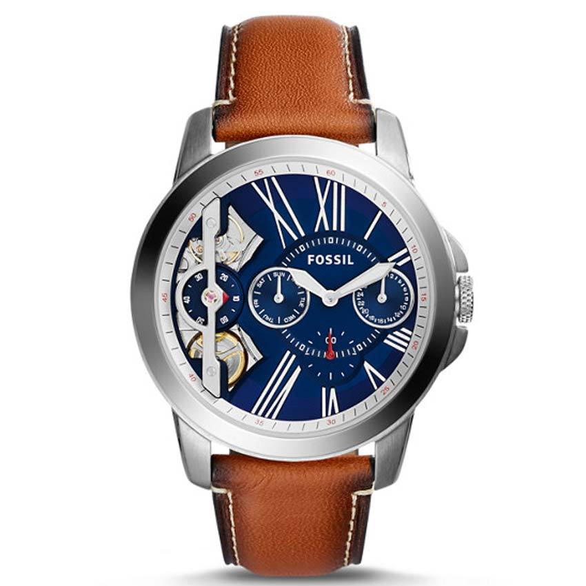 Fossil ME1161 Men's Grant Twist Three-Hand Luggage Leather Watch