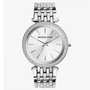 Michael Kors MK3190 Women's Darci Silver Dial Pave Bezel Watch