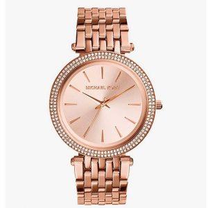 Michael Kors MK3192 Women's Darci Pave Bezel Rose Gold Watch