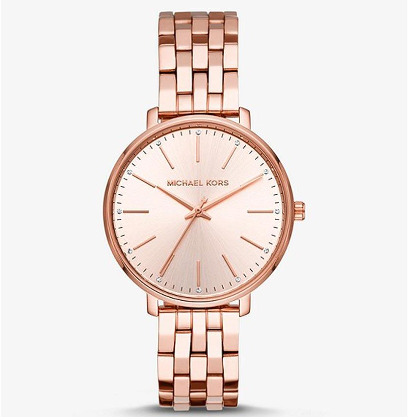 Michael Kors MK3897 Women's Pyper Crystal Rose Gold Bracelet Watch