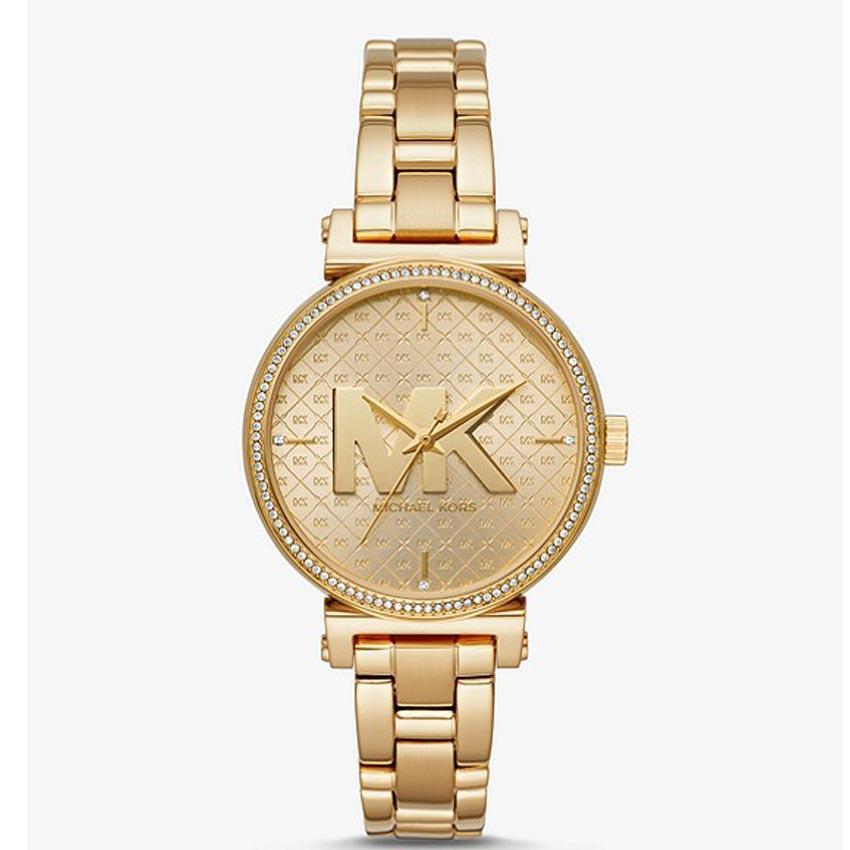 Michael Kors MK4334 Women's Sofie Quartz Crystal Pave Bezel Watch
