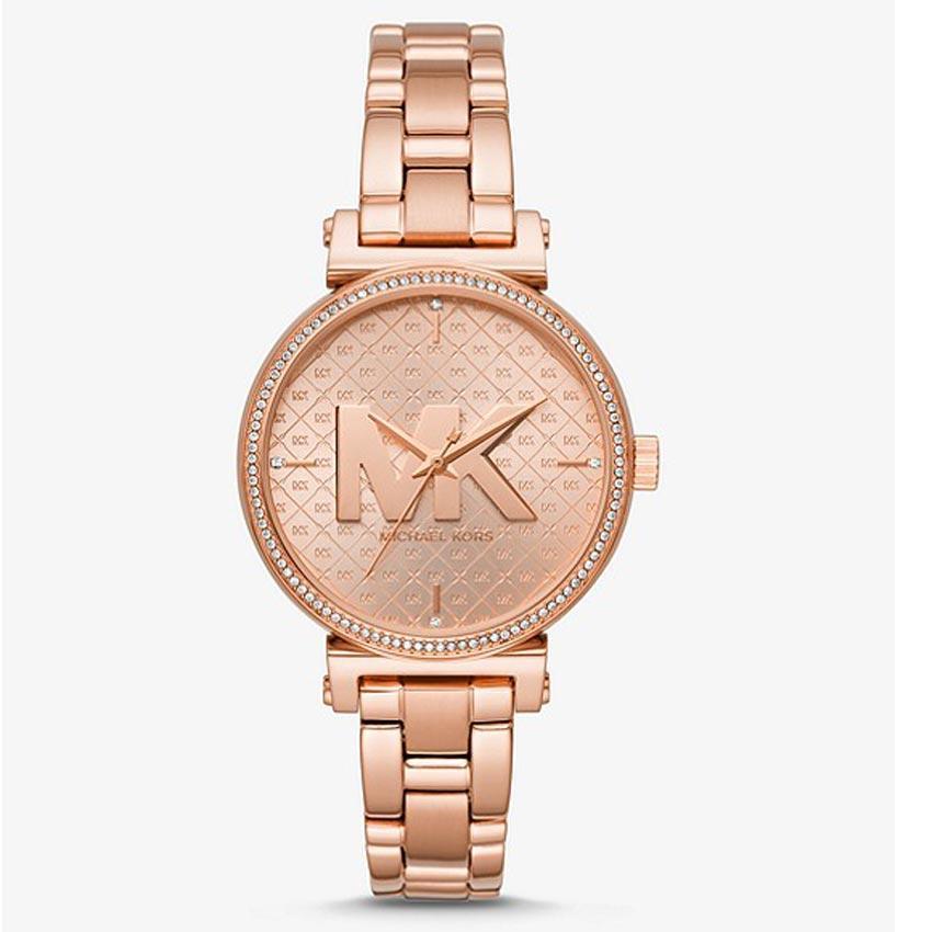 Michael Kors MK4335 Women's Sofie Quartz Crystal Rose Gold Dial Watch