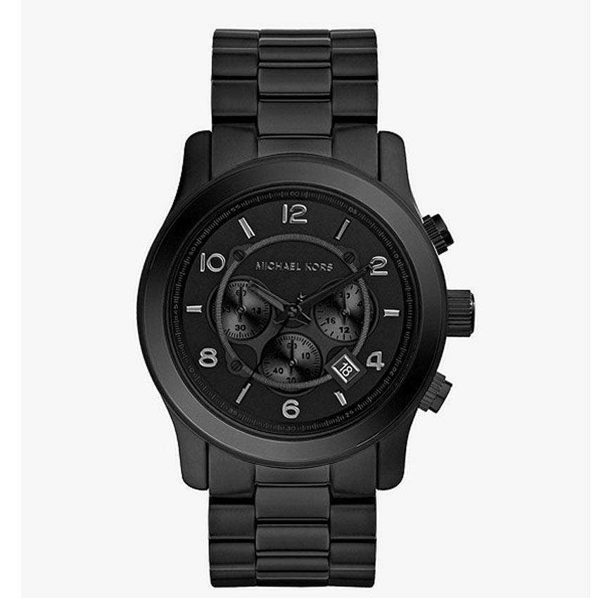 Michael Kors MK8157 Men's Runway Chronograph Black Bracelet Watch