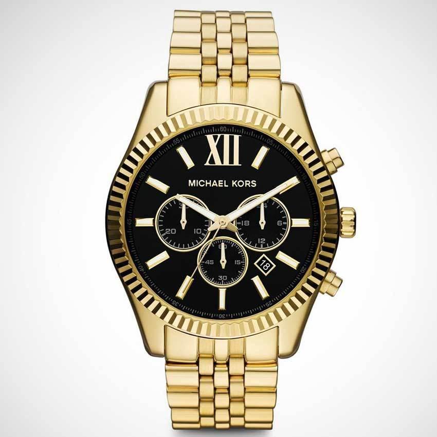 Michael Kors MK8286 Men's Lexington Chronograph Black Dial Watch