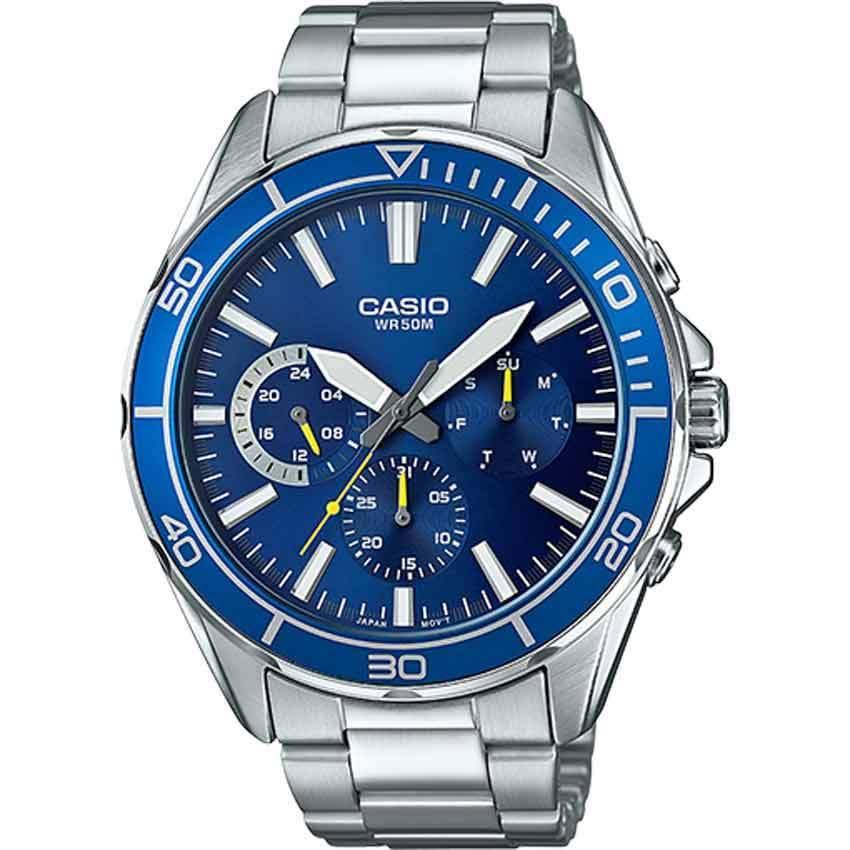 Casio MTD320D-2AV Men's Multifunction Blue Dial Bracelet Watch