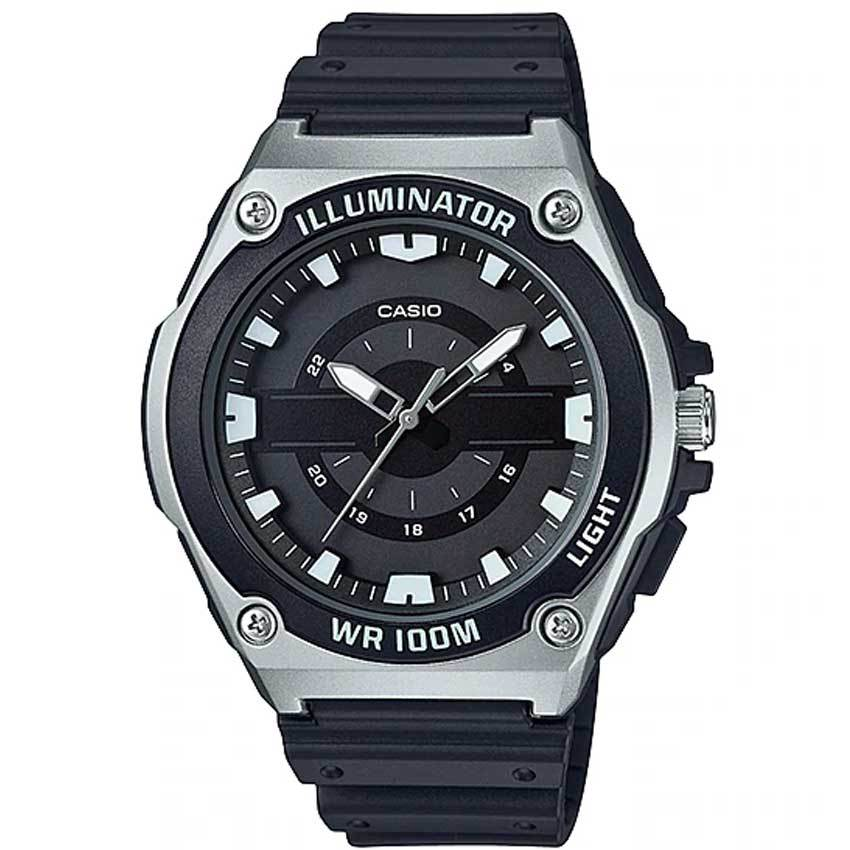 Casio MWC100H-1AV Men's Illuminator Analog Quartz Black Resin Watch