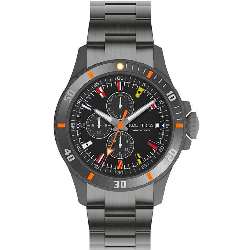 Nautica NAPFRB019 Men's Freeboard Gunmetal Stainless-Steel Watch