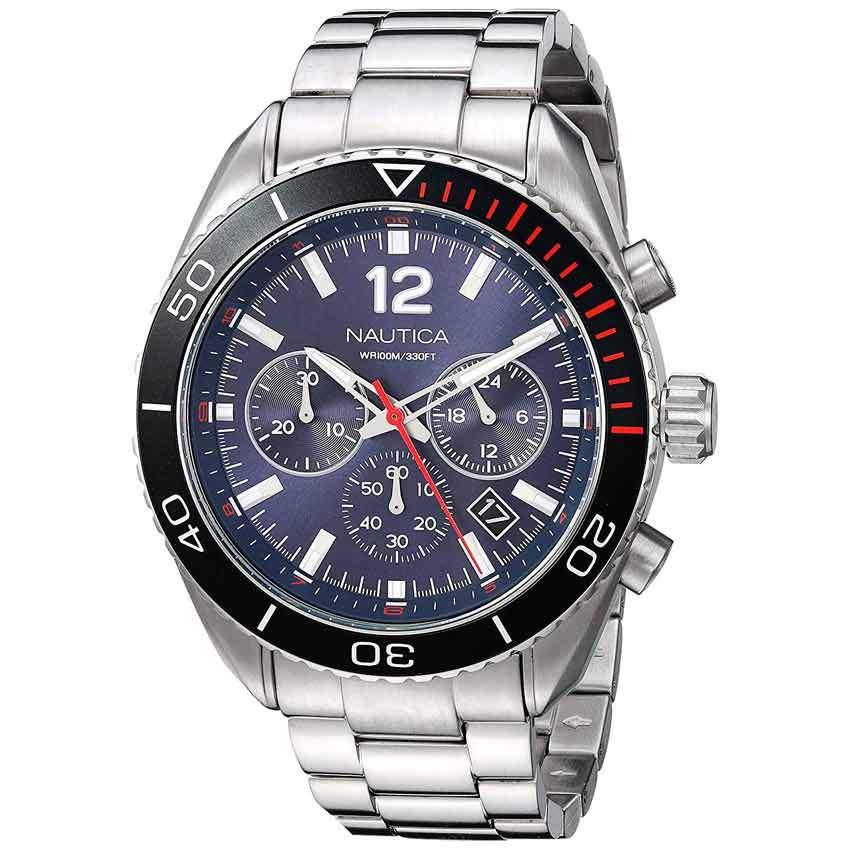 Nautica NAPKBN004 Men's 'Key Biscayne' Stainless Steel Bracelet Watch