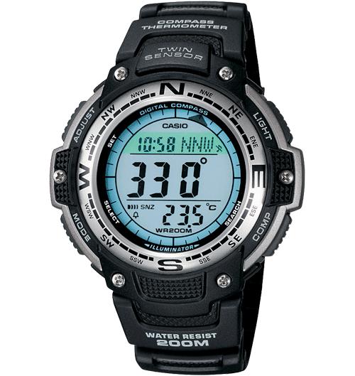 Casio SGW100-1V Men's Twin Sensor Digital Black Watch