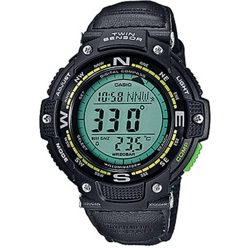 Casio SGW100B-3A2 Men's Twin Sensor Digital compass/Thermometer Watch