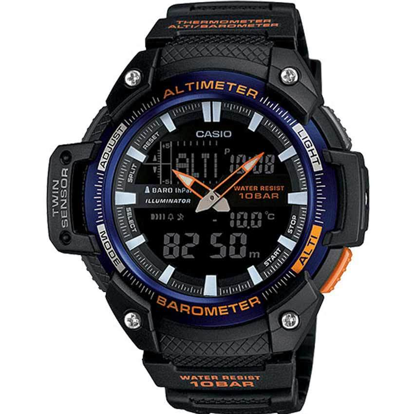 Casio SGW450H-2B Men's Twin Sensor World Time Temperature Black Resin Watch