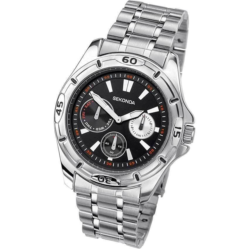 Sekonda SK3355 Men's Multi Dial Stainless Steel Bracelet Medium Size Watch
