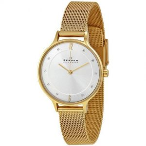 Skagen SKW2150 Women's Anita Gold Mesh Medium Size Watch