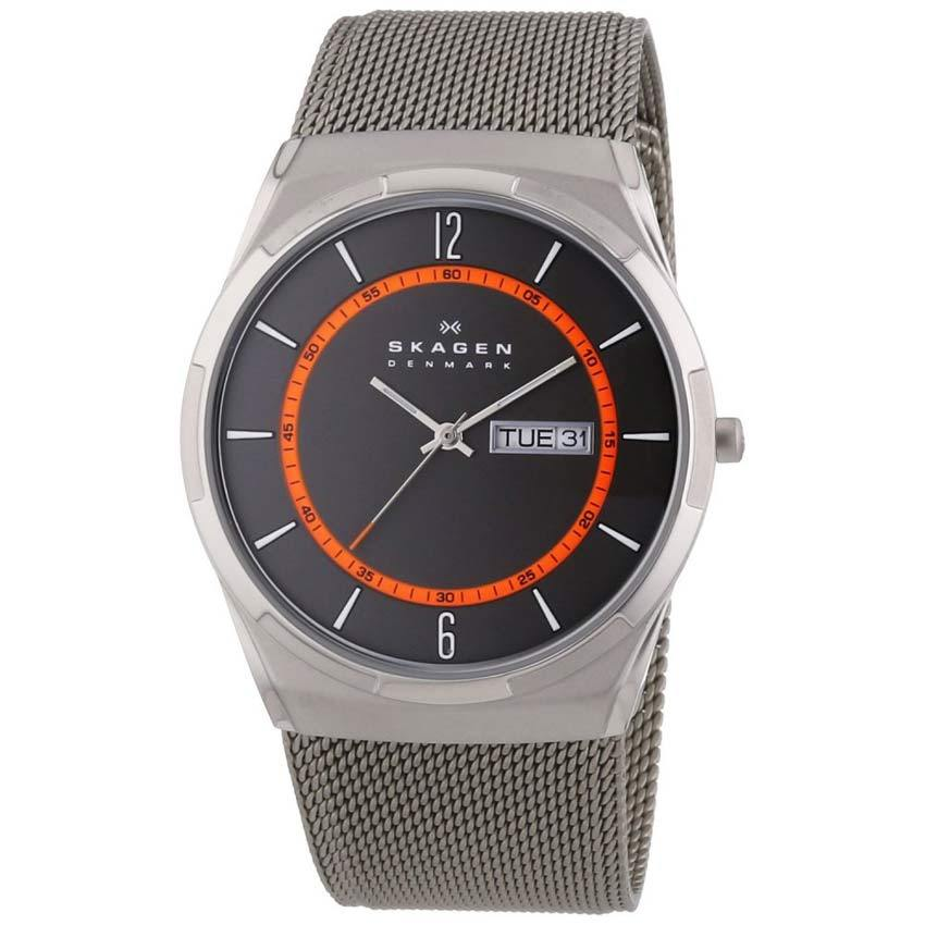 Skagen SKW6007 Men's Melbye Titanium Grey Dial, Mesh Medium Watch