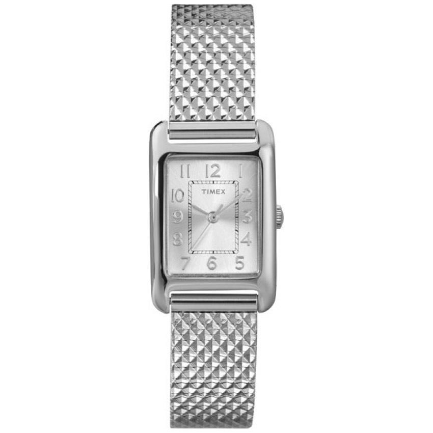 Timex T2P303 Women's Main Street Silver Mesh Bracelet Small Watch