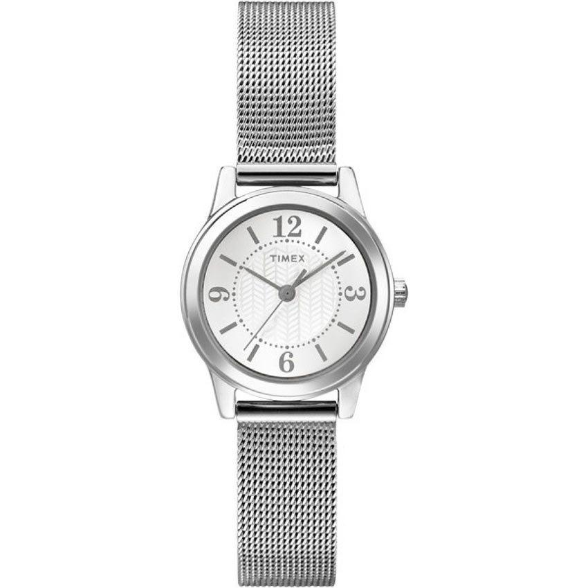 Timex T2P457 Women's Casey Dress Silver Mesh Bracelet Small Watch