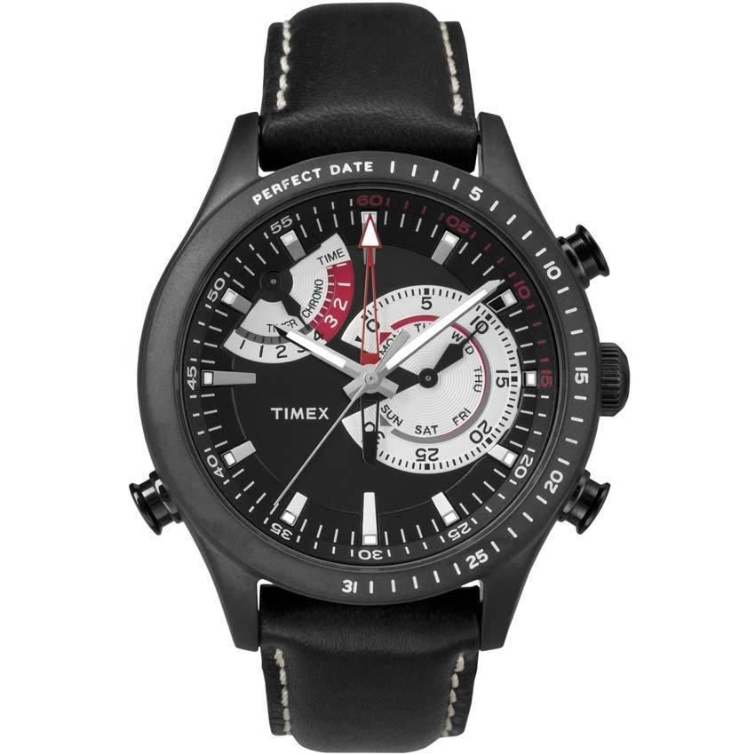 Timex T2P726 Men's Intelligent Quartz Chrono Timer Black Dial Watch
