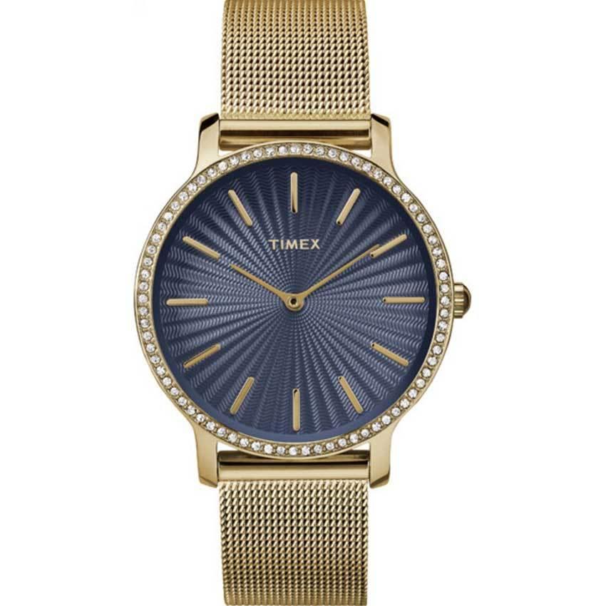 Timex T2R506 Women's Metropolitan Swarovski Gold Mesh Watch
