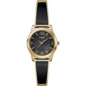 Timex T2R929 Women's Gold Fashion Stretch Bangle 25mm Expansion Small Watch