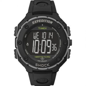TIMEX T49950 MEN'S EXPEDITION CHRONOGRAPH VIBRATING ALARM RESIN WATCH