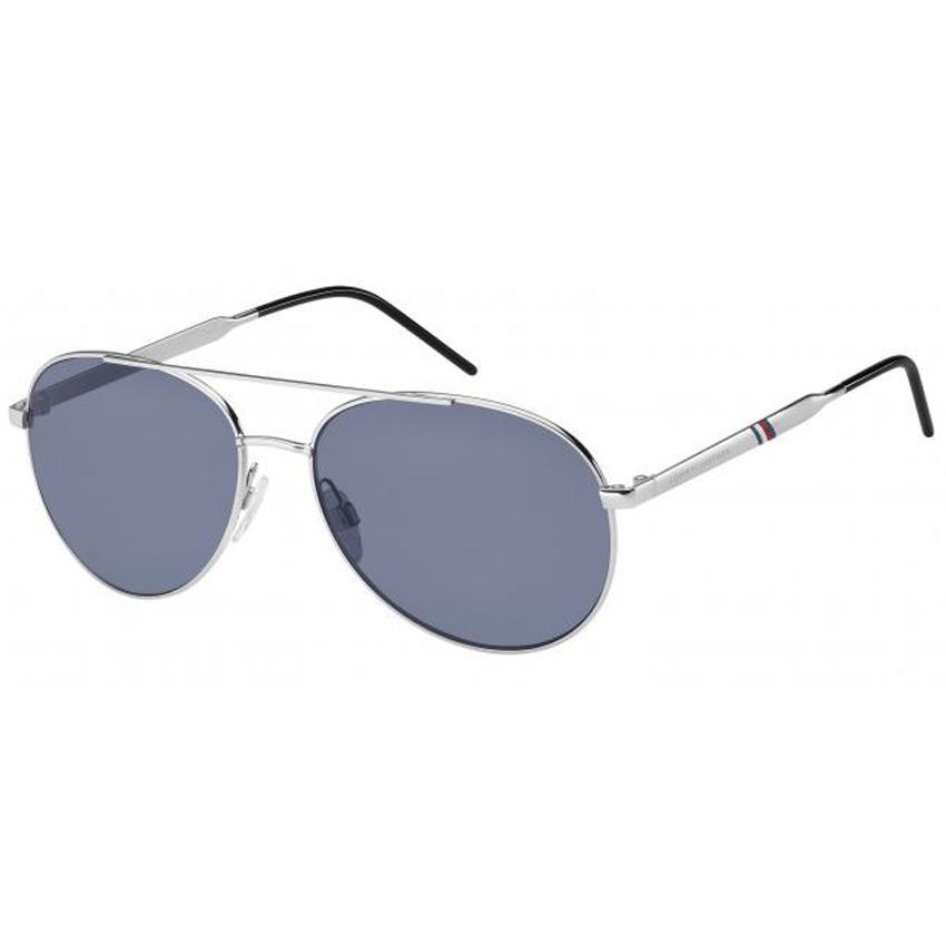 Tommy Hilfiger 1653/S Men's Palladium Frame Blue Avio Lens Sunglasses