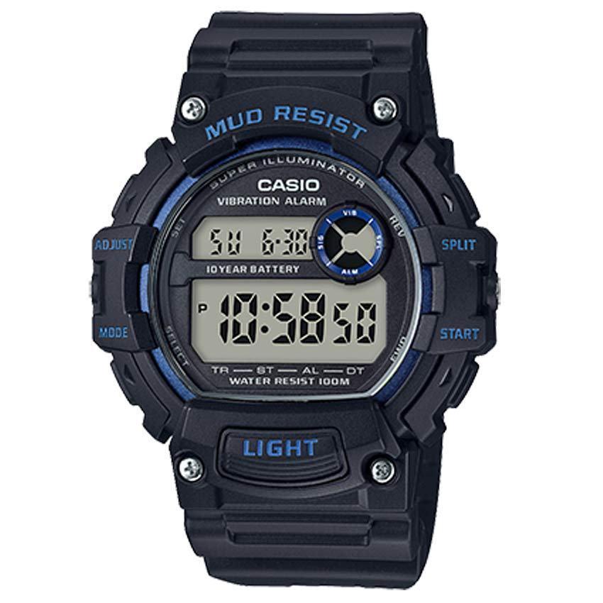 Casio TRT110H-2AV Men's Mud Resistant Dual Time Vibration Alarm Watch