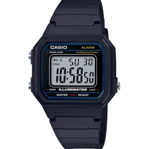 Casio W217H-1AV Men's Classic Chronograph Digital Resin Small Watch