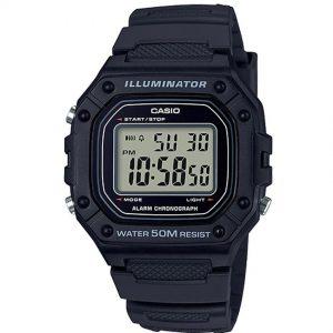 Casio W218H-1AV Men's Chronograph Illuminator Digital Medium Watch
