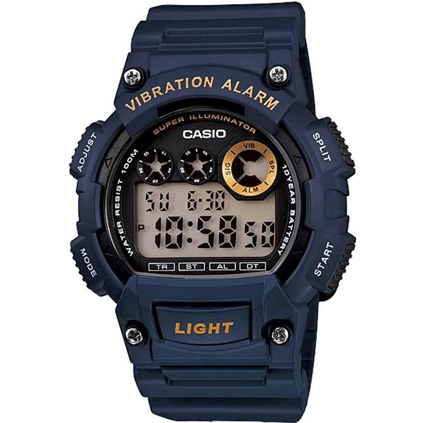 CASIO W735H-2AV MEN'S CORE DIGITAL SPORT BLUE RESIN QUARTZ WATCH