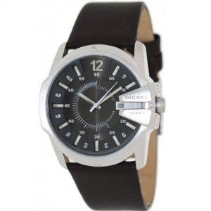Diesel DZ1206 Men's Master Chief Stainless Steel Brown Leather Watch, Diesel