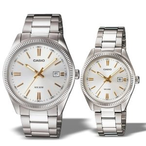 Casio His N Her's Enticer Silver Dial Small Watch